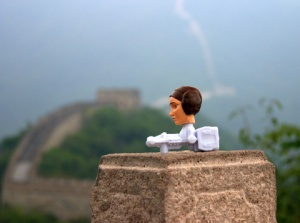 Princess Leia on the Great Wall of China