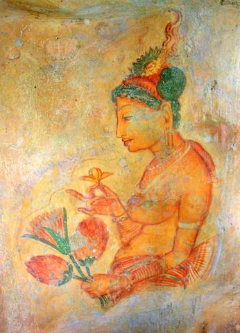 Sigiriya cave painting