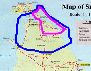 LTTE controlled regions