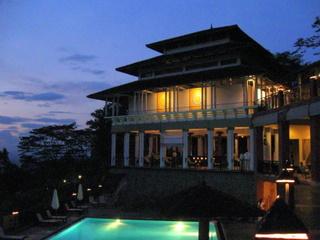 Amaya Hills Hotel at sunset, Kandy
