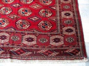 Corner detail, Tekke rug