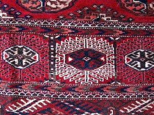 Tekke rug detail